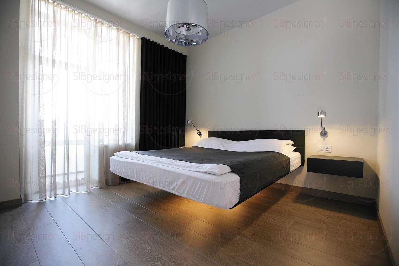 Спальня супругов создана по принципу «ничего лишнего»