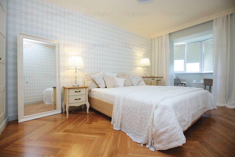 Спальня – еще более легкое и воздушное пространство.