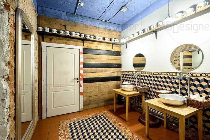 туалетная комната в ночном клубе
