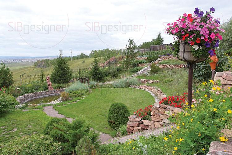 Потрясающий пример оформления сада своими руками - СибДизайнер.ru