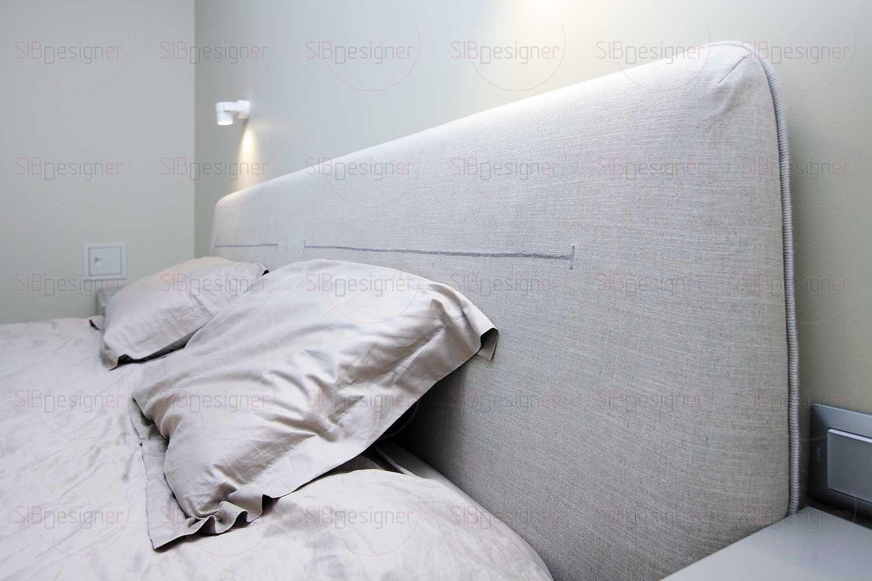 Иногда одной колоритной зигзагообразной строчки, выполненной на изголовье кровати, достаточно, чтобы придать выразительность и сделать акцент на выбранной зоне.