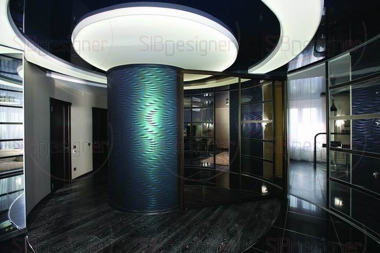 Декорирование интерьера по спирали