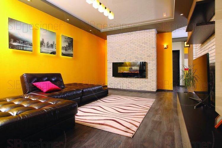Нескучный интерьер трехкомнатной квартиры