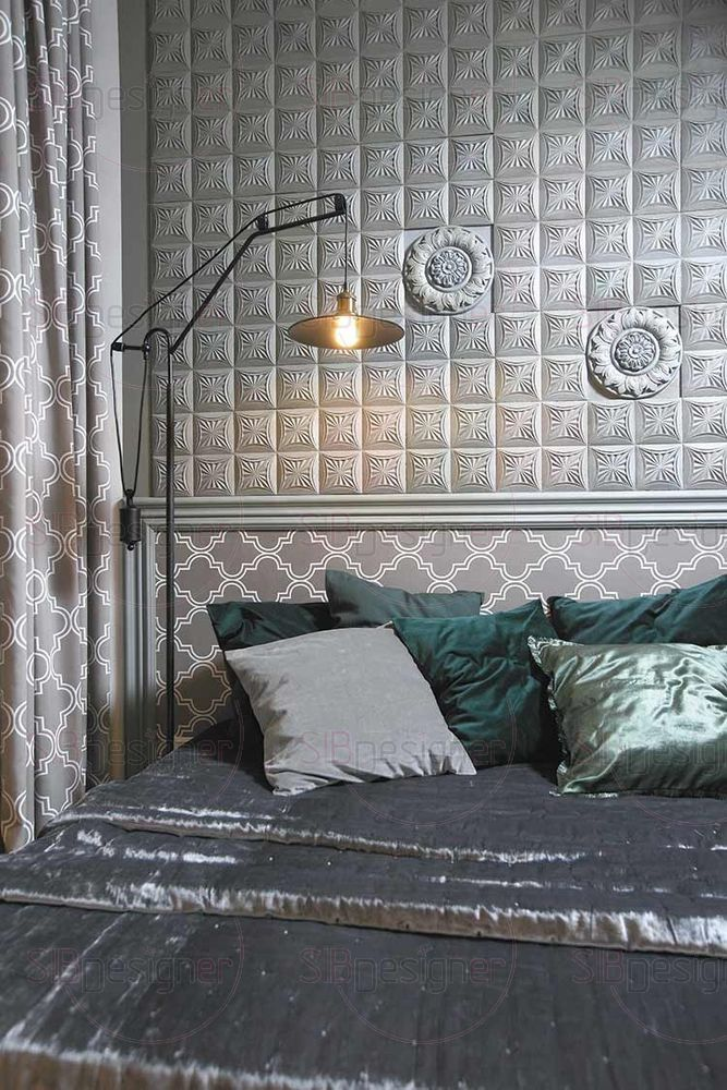 Достаточно просторным помещением в квартире стала спальня.