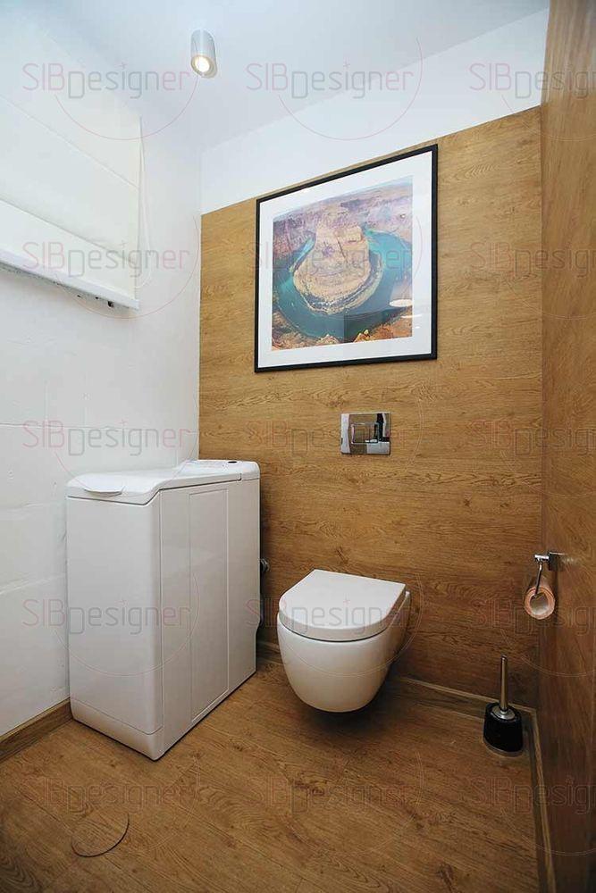 В ванной использовано одно из решений, что я применял в собственной квартире, – говорит Андрей. – На полу плитка ПВХ, которая долговечна и не впитывает влагу.