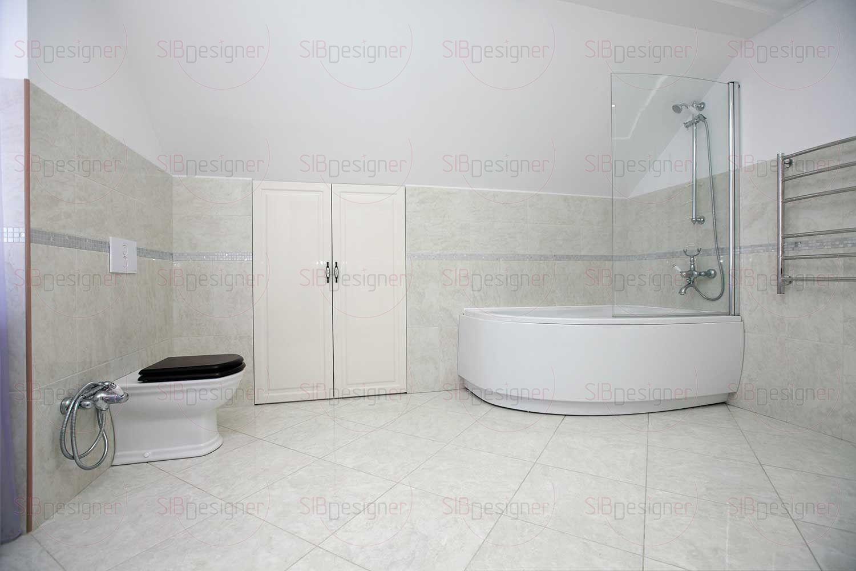 Пространство ванной комнаты – тоже результат работы дизайнера с  подскатным пространством