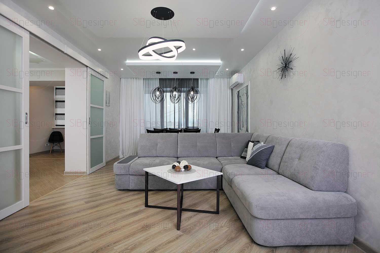 По-настоящему «зимней» комнатой в квартире получилась гостиная