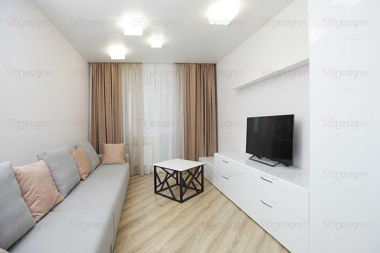 Вторая спальня была оборудована под гостевую комнату, она отличается простым, близким к скандинавской стилистике дизайном.