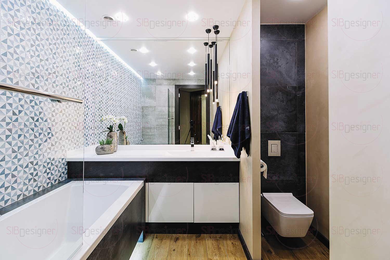 Ванная комната получилась достаточно просторной для небольшой квартиры. В ней четко прослеживается зонирование. Все, что нужно скрыть.
