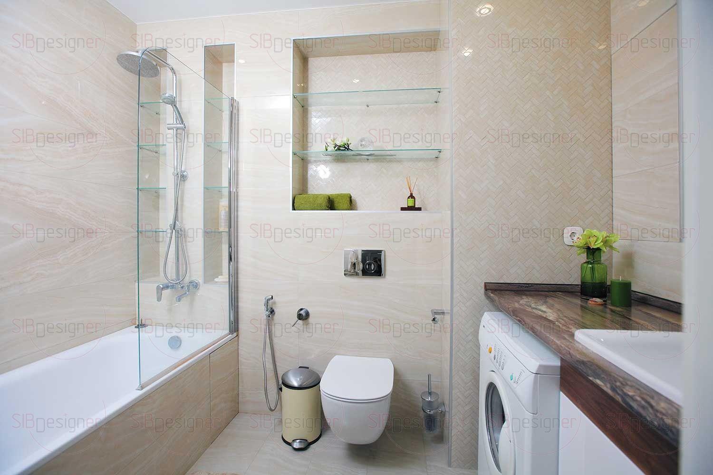 Ванная комната небольшая, поэтому ставку в оформлении Светлана сделала на нейтральной гамме.