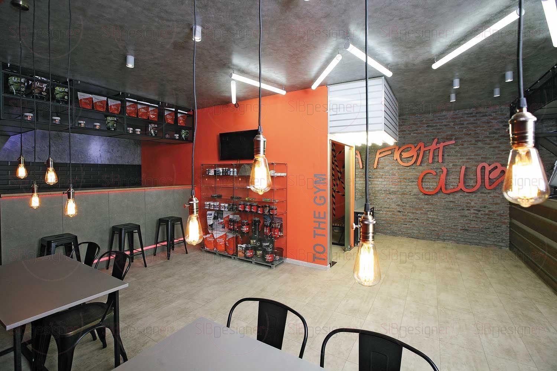 Уютная зона барной стойки и кафе.