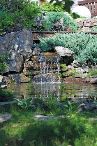 водопад пруд