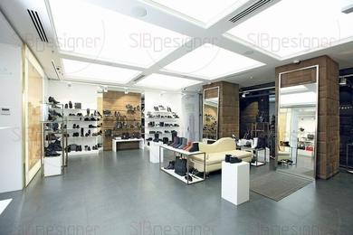 Итальянский дизайн магазина обуви
