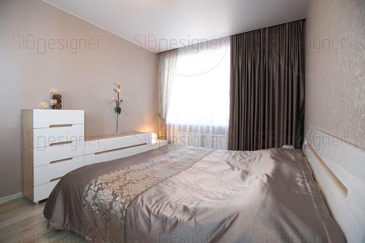 Спальня настраивает на отдых и спокойствие.