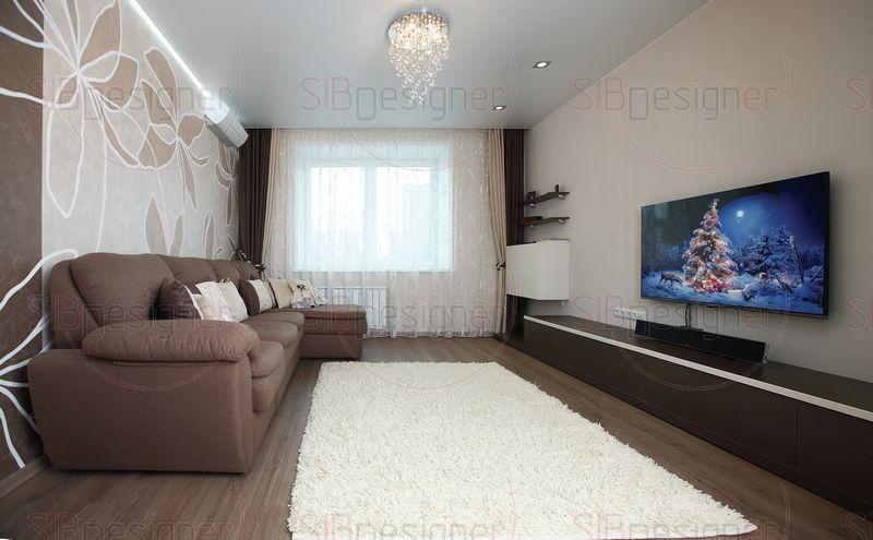 Палитра каждой комнаты составляет максимум два-три теплых цвета.