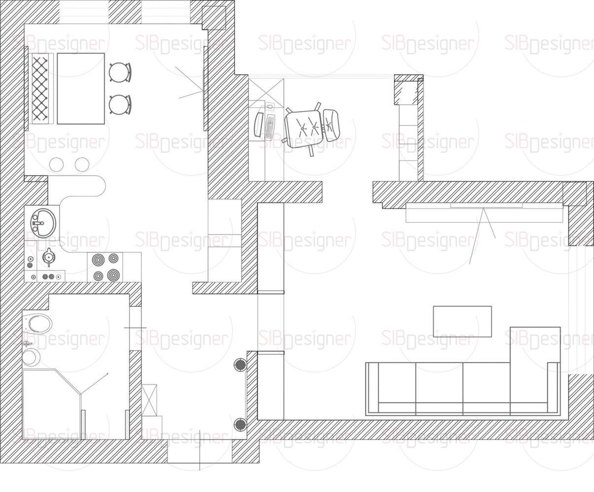 Пространство однокомнатной квартиры организовали таким образом, чтобы сделать его комфортным и удобным для молодой девушки
