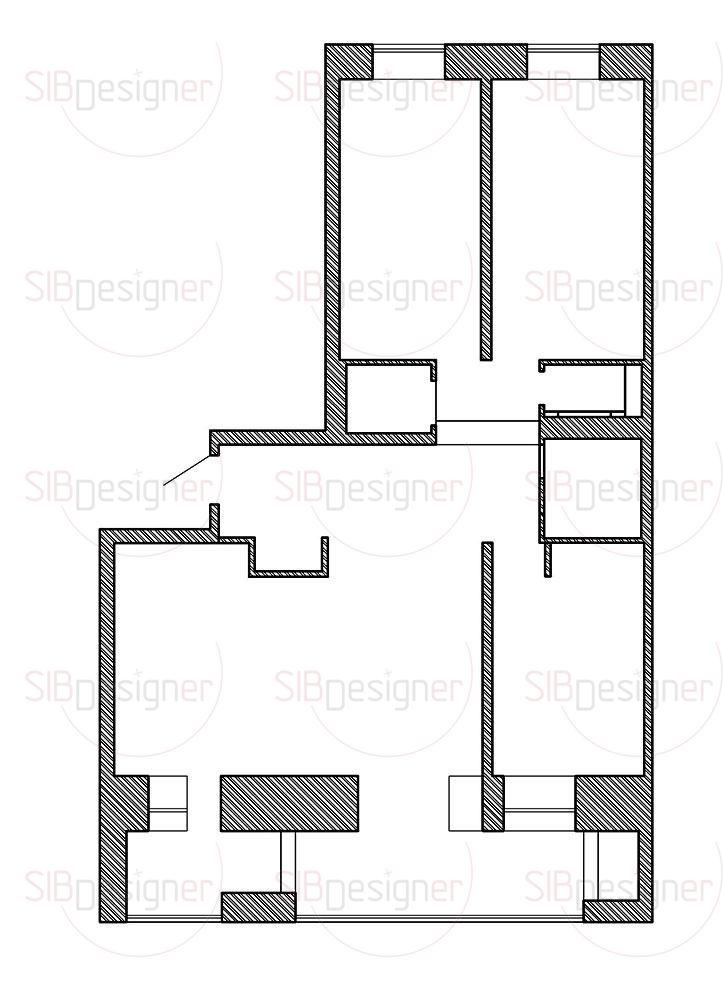1.Холл; 2.Кухня-гостиная; 3.Спальня; 4.Детская; 5.Детская; 6.Гардеробная; 7.Санузел; 8.Ванная комната; 9.Столовая