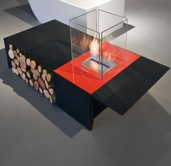 Огонь за стеклом