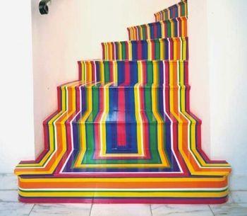 Цветные ступеньки