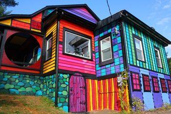 Дом-радуга