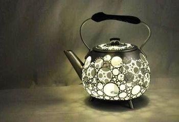 Светильник из чайника