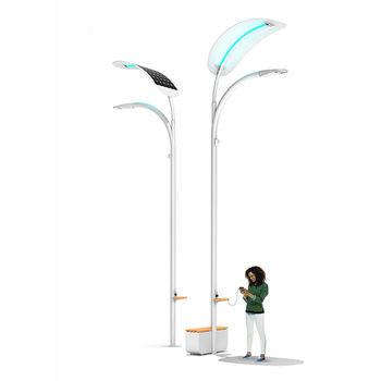 «Умные» фонари на улицах Лас-Вегаса