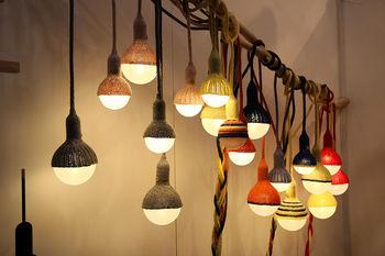 Вязаные лампы