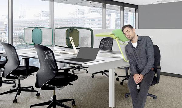 платформа для сна на работе и разделительная перегородка
