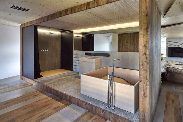интерьер дома из дерева