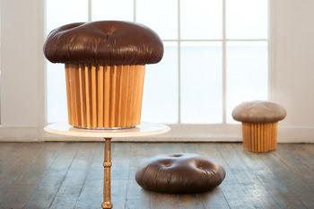 Шоколадный пуфик-маффин