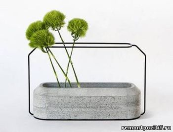 Бетонные вазочки
